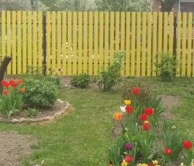 Забор из металлоштакетника Эконом