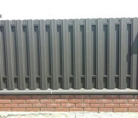 Забор из металлоштакетника Классика