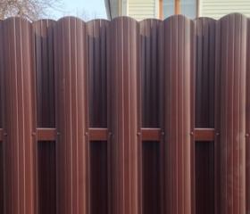 Забор из металлического штакетника Стандарт EURO