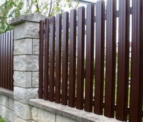 Забор из металлического штакетника Стандарт Super