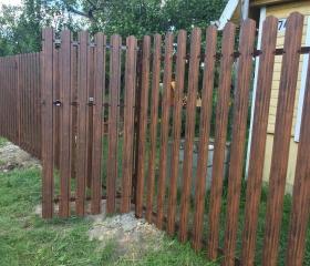 Забор из металлоштакетника Корса