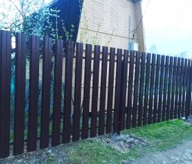 Забор из металлоштакетника Вентра